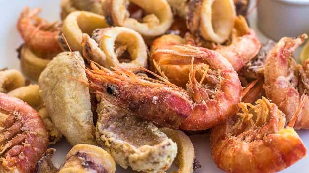 Fornitura pesce per ristoranti: frittura misto mare